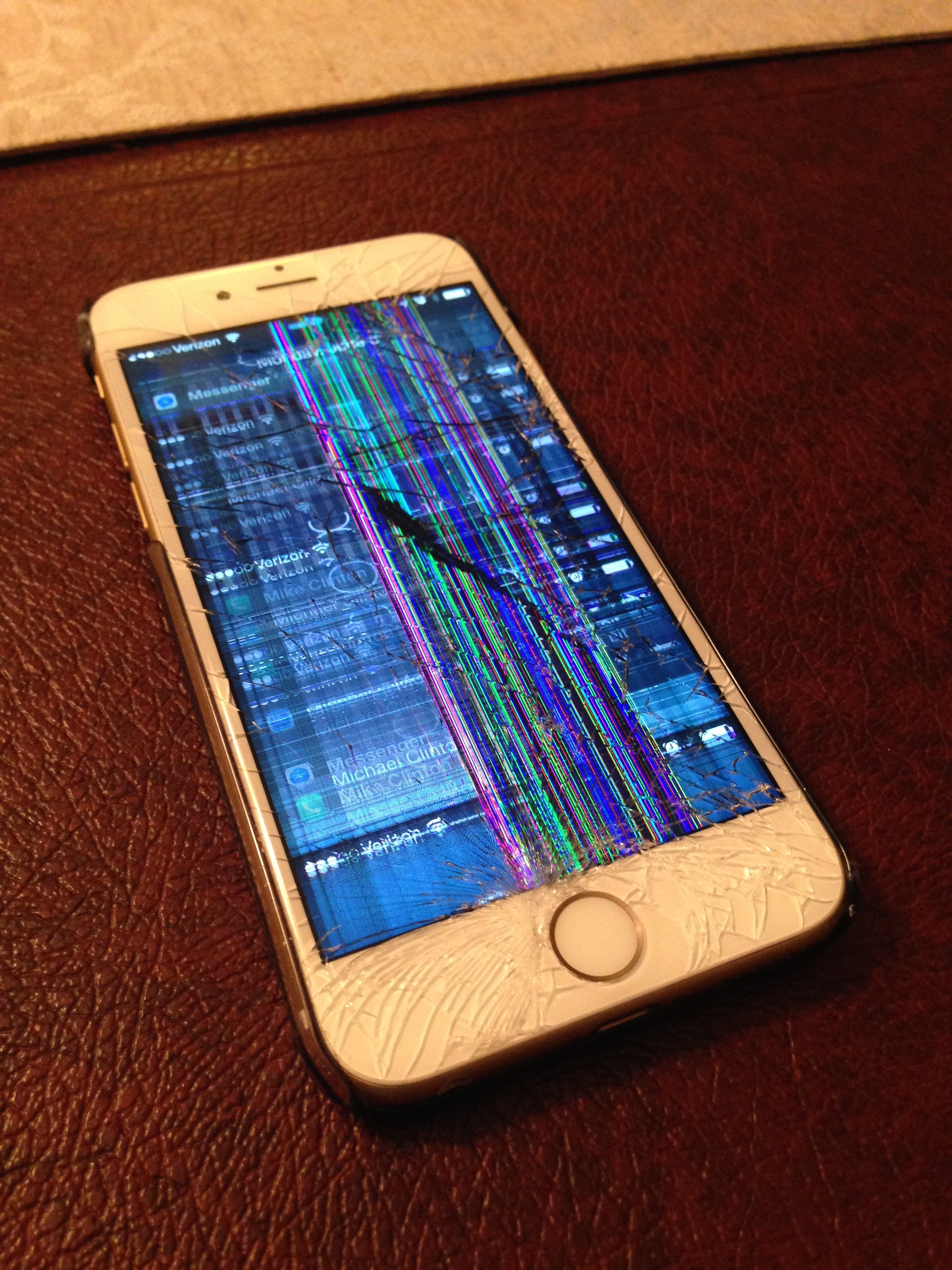 Never Fun to See a Broken iPhone 6 Screen