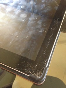Cracked iPad Glass