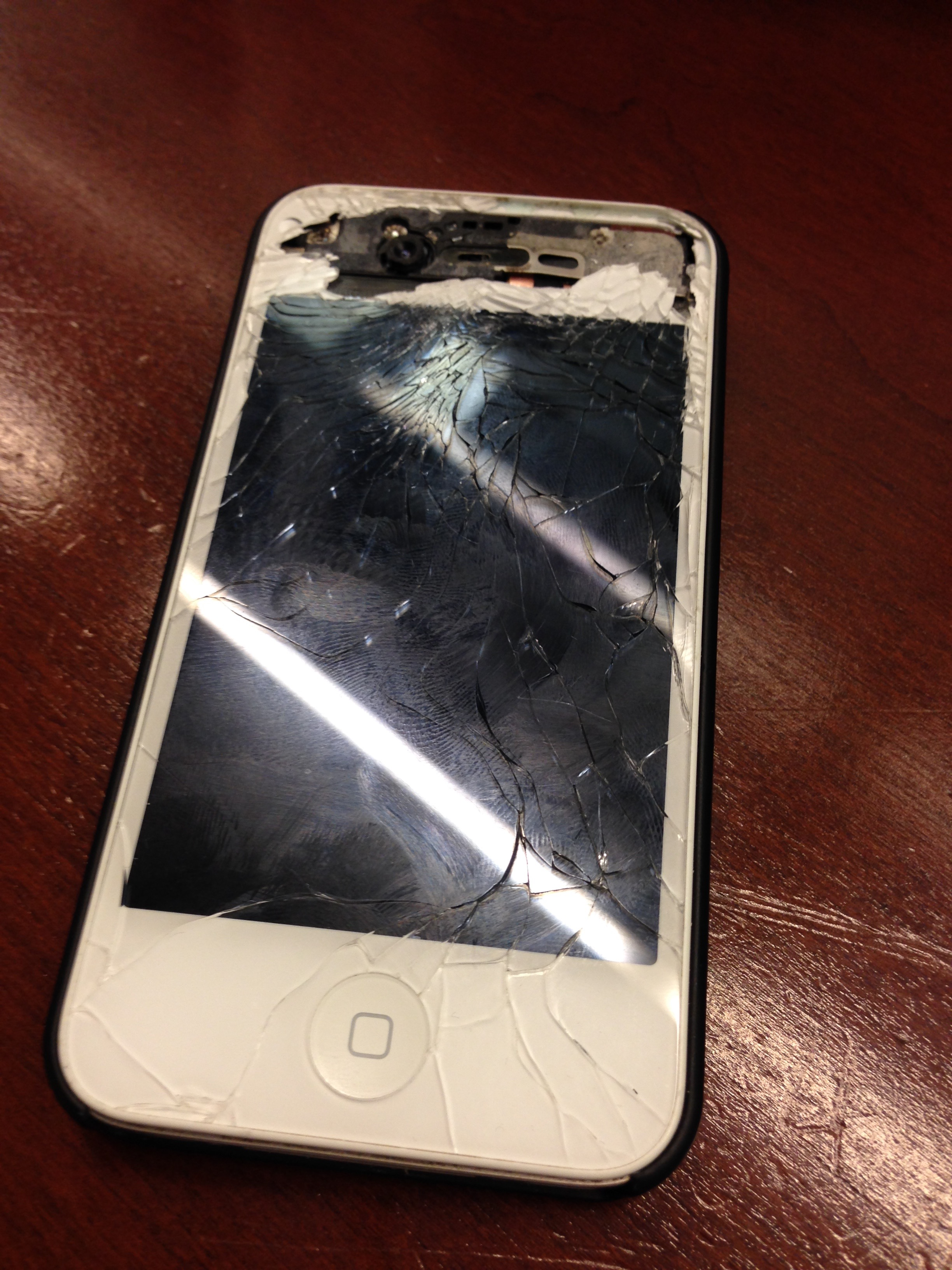 cracked iphone – Not such a happy st. patrick's day