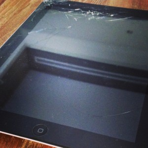 Cracked iPad Screen