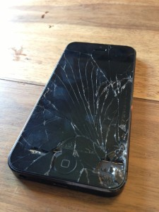 Broken iPhone in Dubai