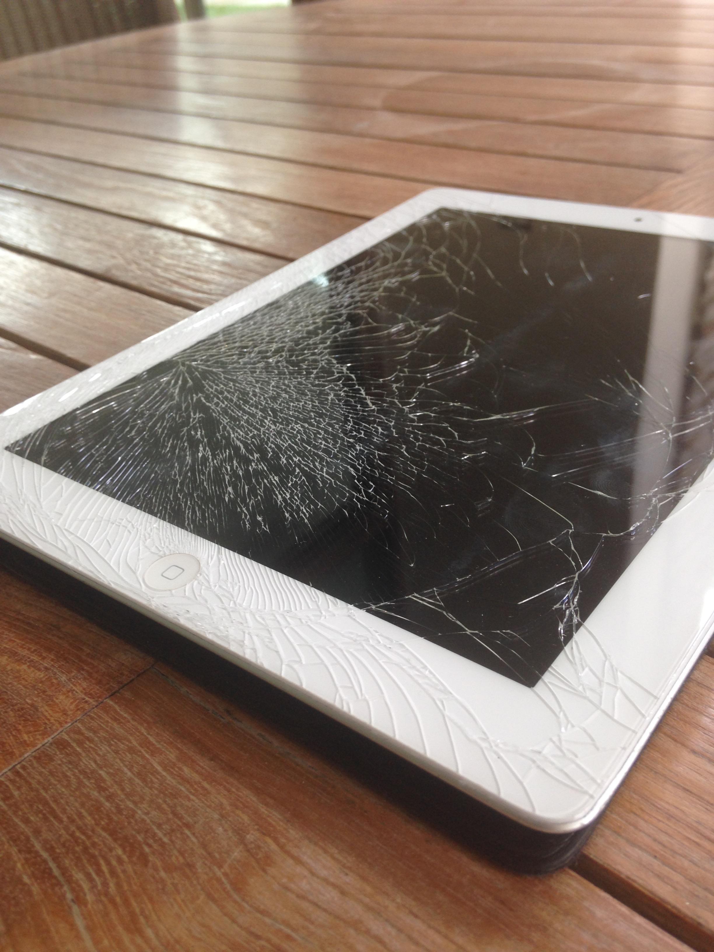 Why me? I can't believe I broke my iPad screen